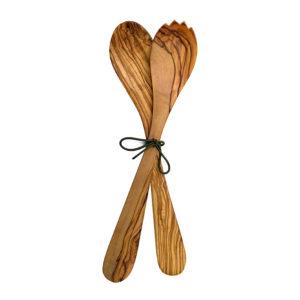 Oliv wood sallad forks